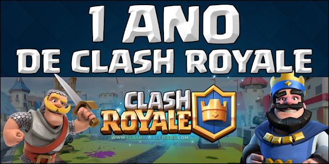 1 ano de Lançamento do Clash Royale
