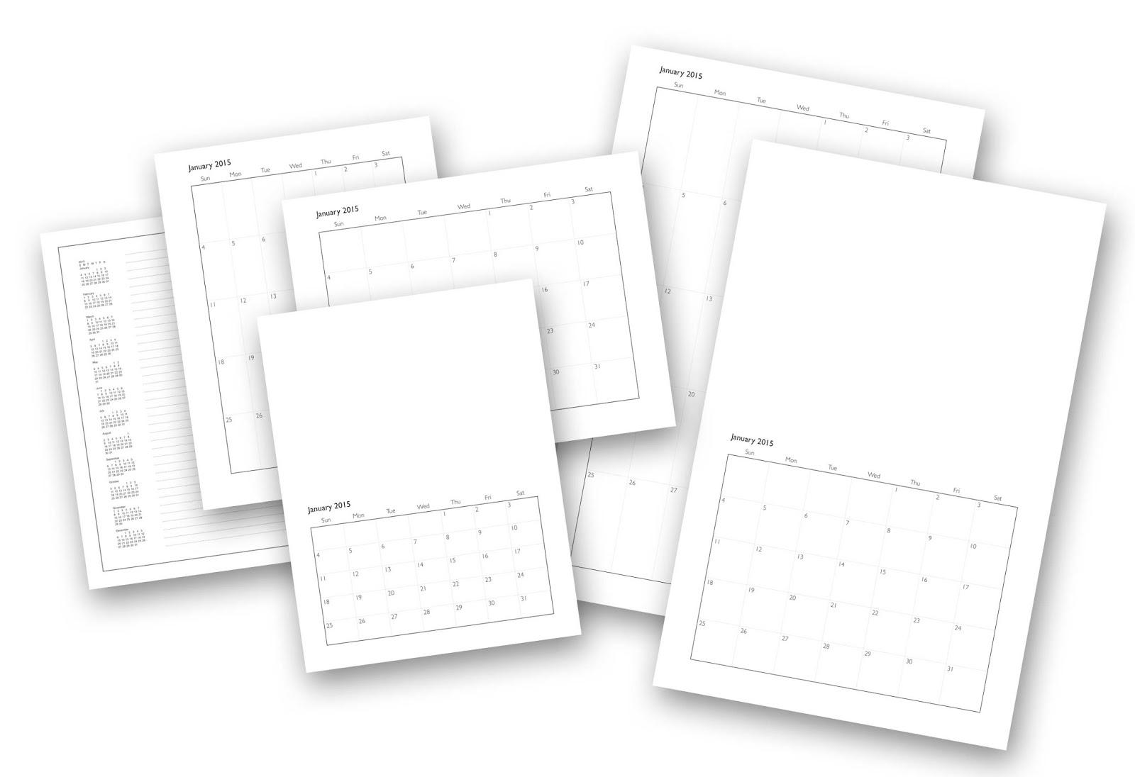Chris Breier: 2015 Calendar Templates
