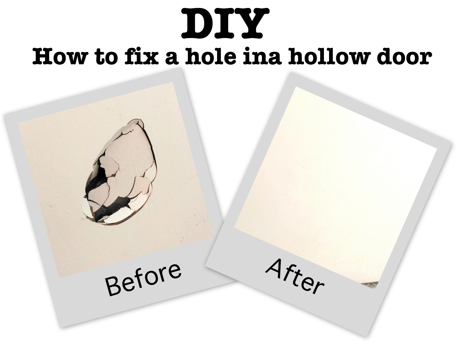 Home Diy How To Fix Hole In A Hollow Door