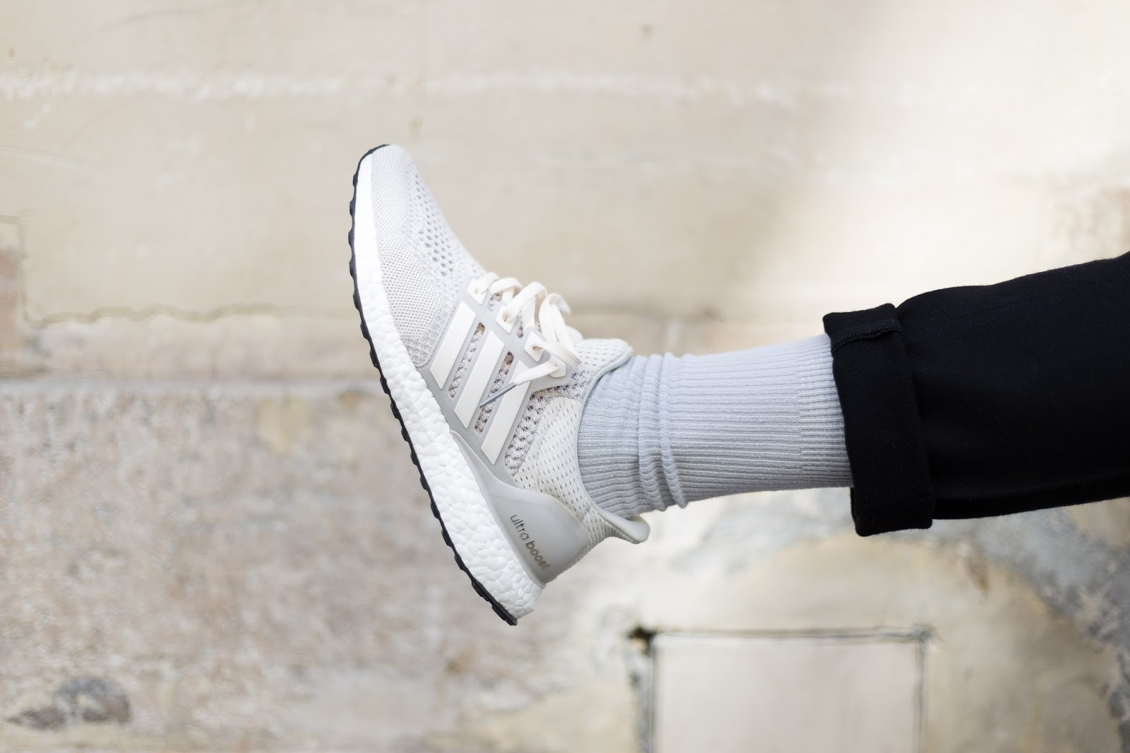 Adidas Ultra Boost Cream On Foot