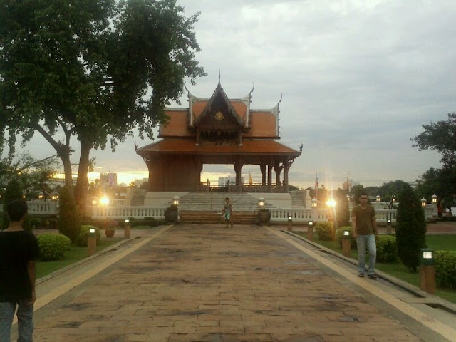 Vistas maravillosas cerca del rio Chao Praya