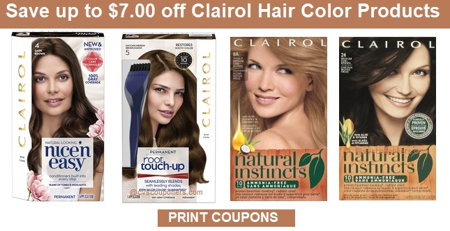 Clairol Coupons | Save up to $7.00 Off - PRINT NOW!