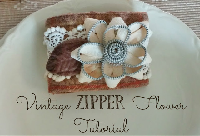Learn how to make beautiful flowers from vintage zippers!