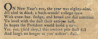 Opening stanza to Freneau's On the Demolition of Dartmouth College