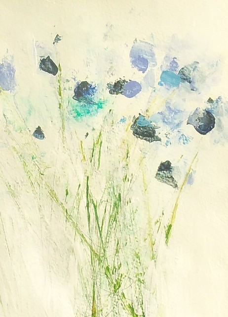 Beautiful abstract floral painting by Holly Irwin