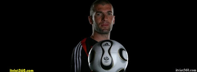 Ảnh bìa Facebook bóng đá - Cover FB Football timeline, zidan đầu sắt