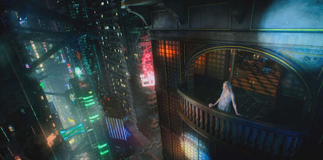 Miriam Bancroft observando el paisaje de 'Altered Carbon'