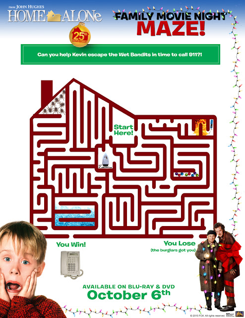Home Alone Maze Printable