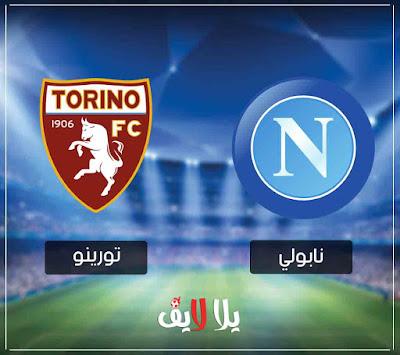 مشاهدة مباراة نابولي اليوم امام تورينو بث مباشر في الدوري الايطالي