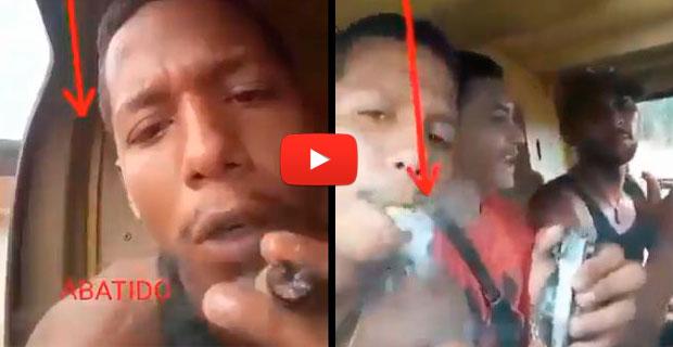 Malandro abatido quedó grabado en un video volando en helicóptero y drogándose