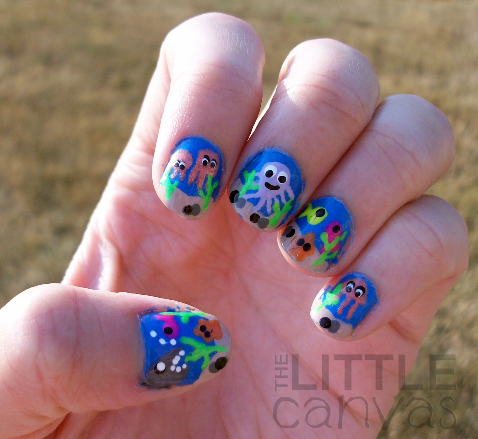 Under the Sea Nail Art - The Little Canvas