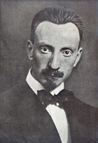 Luigi Russolo, pictured at the time he published his manifesto, in 1916