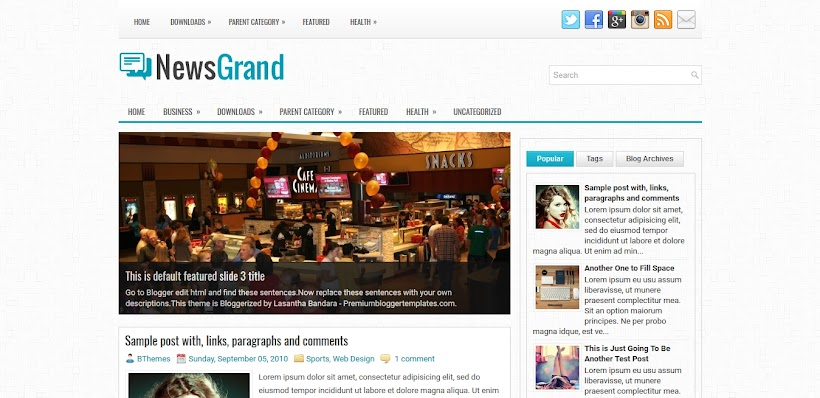 NewsGrand Free Blogger Template