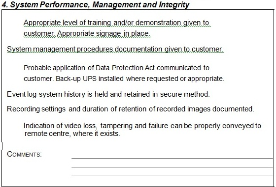 cctv system performance management