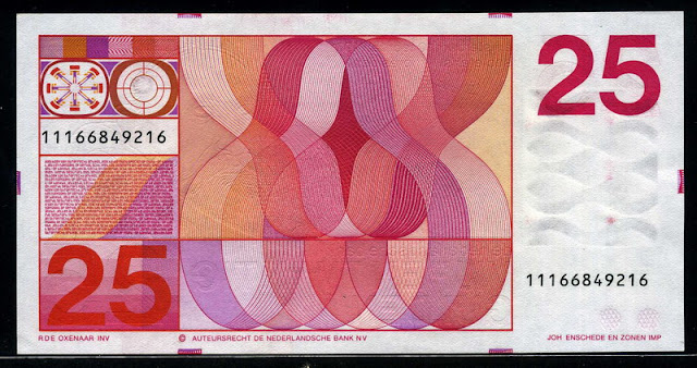 Netherlands paper money currency Dutch guilder Gulden bank note