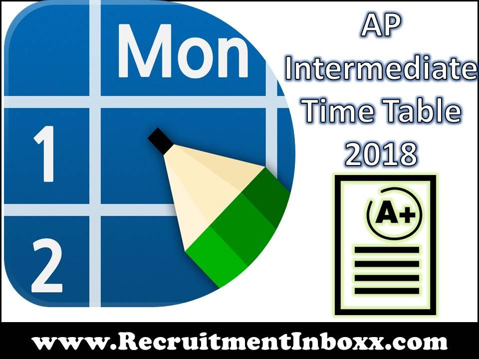 AP Intermediate Time Table