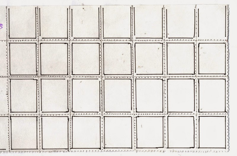 perforated grid for stamps