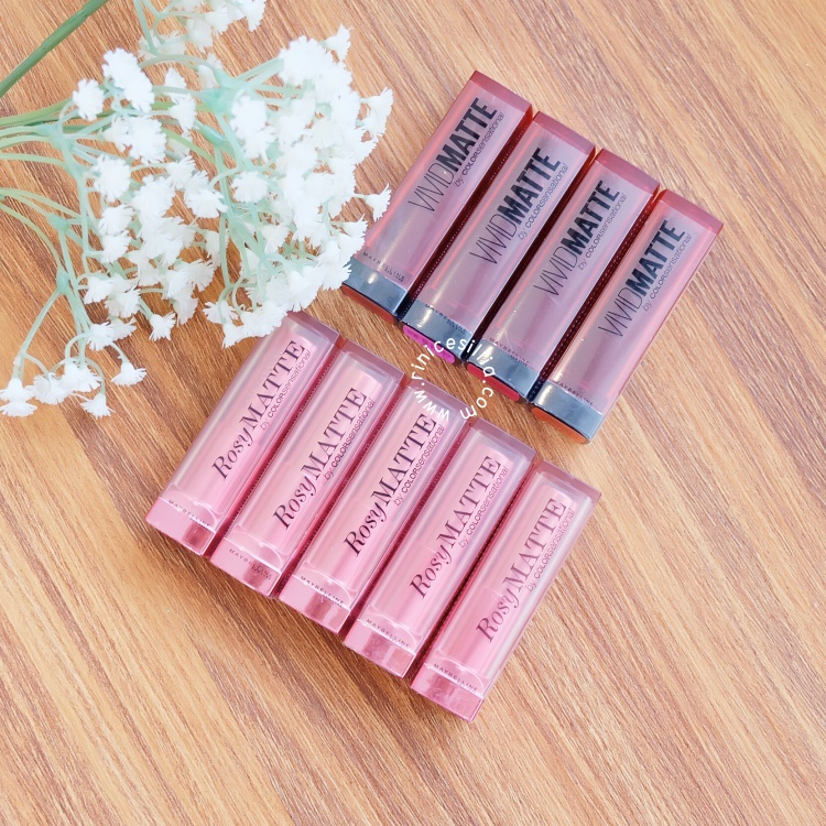 MAYBELLINE ROSY MATTE & VIVID MATTE SWATCHES