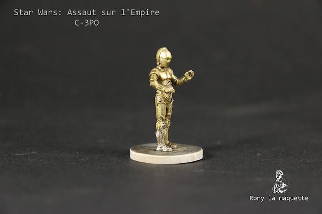 Figurine C-3PO du jeu Star Wars: Assaut sur l'Empire.