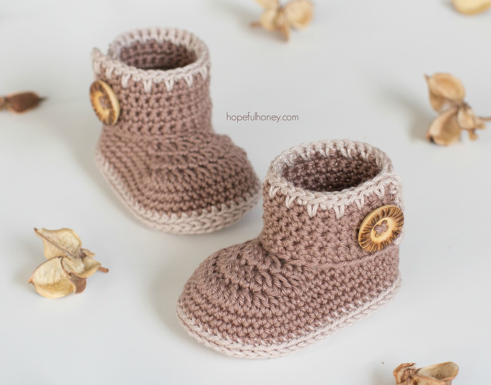 Crochet Baby Ankle Booties Free Pattern : Hopeful Honey Craft, Crochet, Create: Cocoa Baby Ankle ...