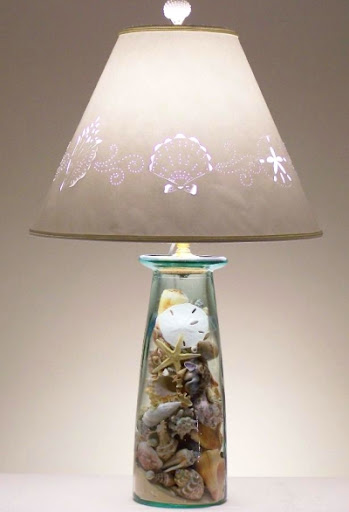 Make a Lamp from a Vase or Jar to Fill with Treasures ...