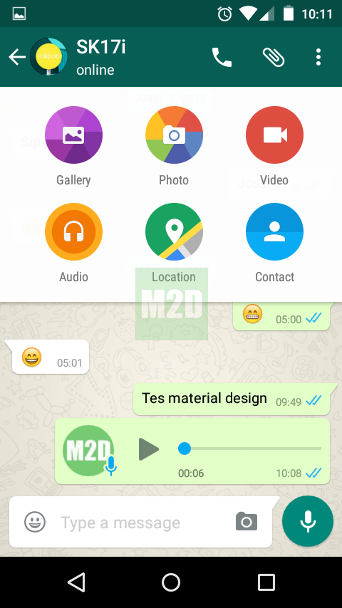 Ikon WhatsApp material design
