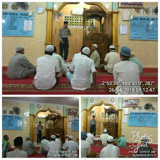 Wakapolres Muba Safari Shubuh Ke Masjid Miftahul Huda