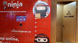 Secure lockers from Ninja Van in Singapore.