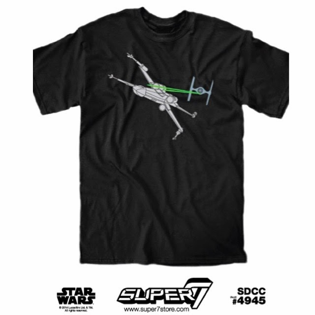 "San Diego Comic-Con 2014 Exclusive Star Wars T-Shirt Collection by Super7 - ""Dogfight!"""