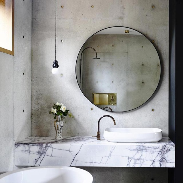 Espelho moderno redondo