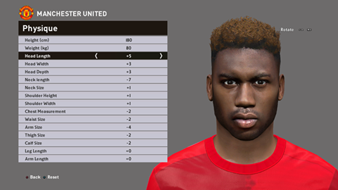 PES 2016 / PES 2017 Timothy Fosu-Mensah (Manchester United F.C) Face by Ozy_96 PESMOD