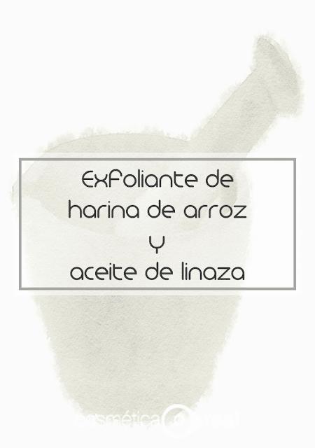 Exfoliante aclarante de la piel de arroz y aceite de linaza