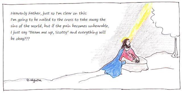 jesus confirms the plan (cartoon), by rob g