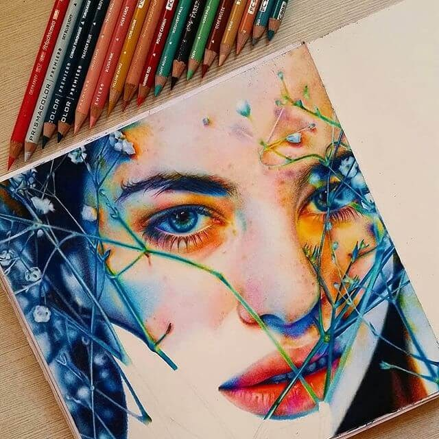 01-Summer-and-Winter-colors-Portrait-Drawings-www-designstack-co