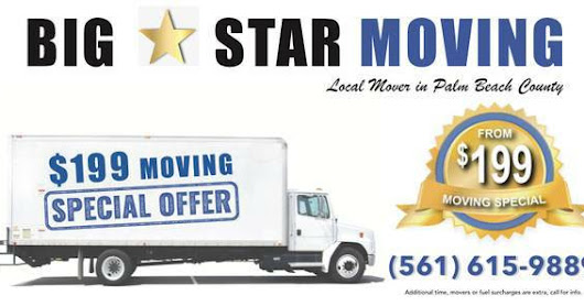 Atlantis moving companies from $199, call 561-615-9889.