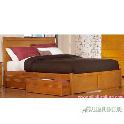 Tempat tidur minimalis laci model coco