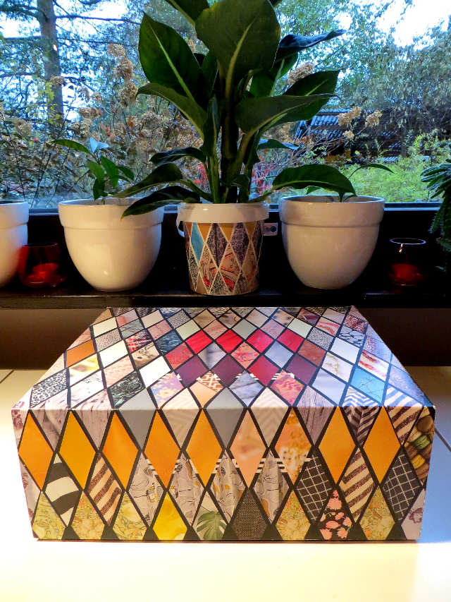 recycle diy storage box diamond collage
