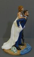 statuine matrimonio sposi spiaggia cake topper originale orme magiche