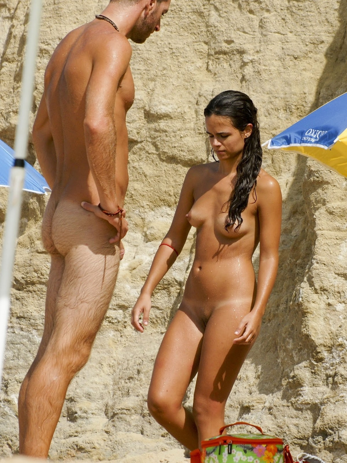 beach young couple naked