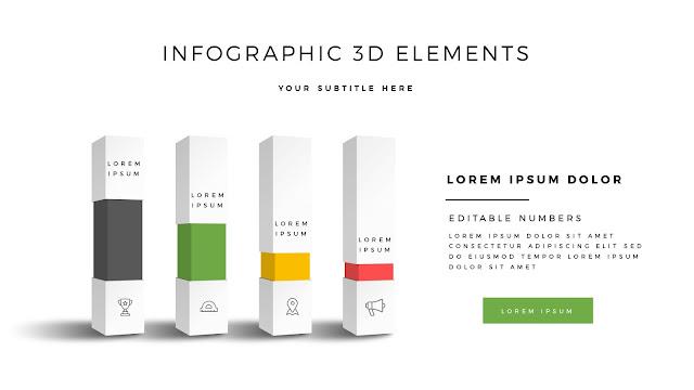 Fully Editable 3D Design Elements for PowerPoint Slide3