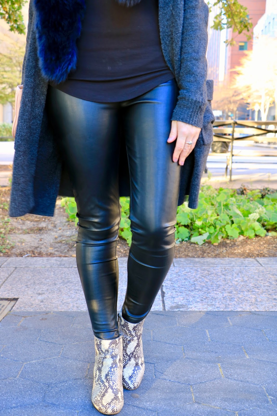 ann taylor leather leggings