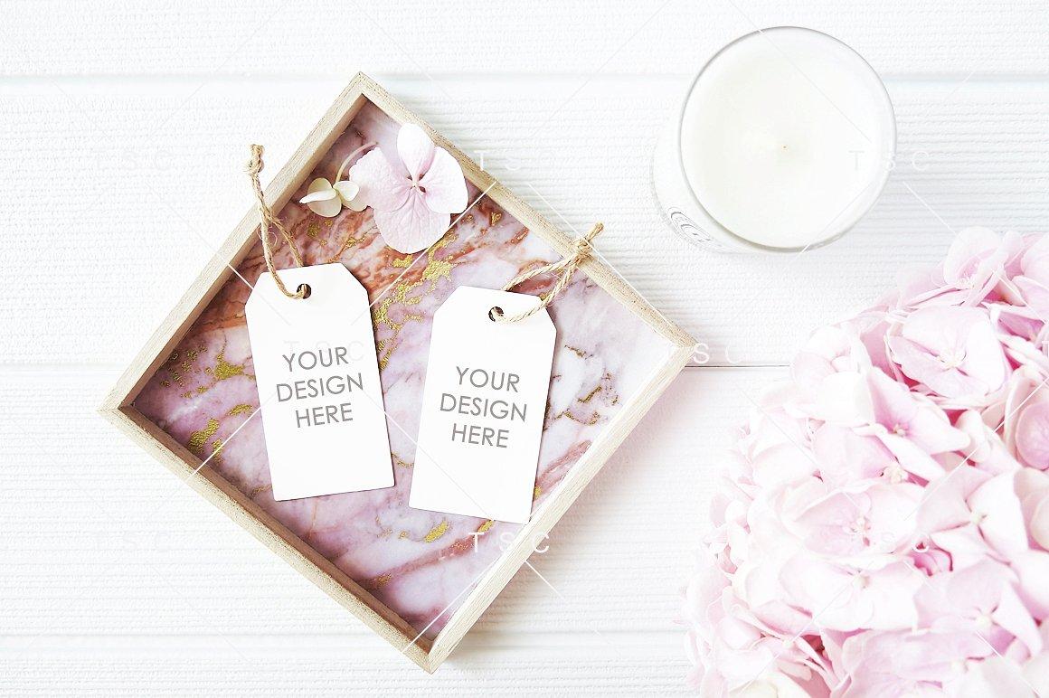 Gift Wedding Favor Tag Mockup