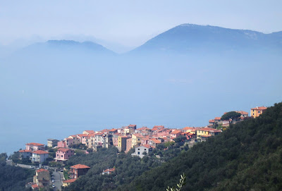 Village of Serra above the Gulf of La Spezia