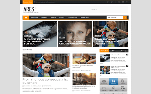 Ares Free Blogger Template