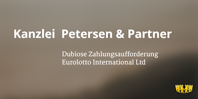 Inkasso | Kanzlei  Petersen & Partner | Eurolotto International Ltd