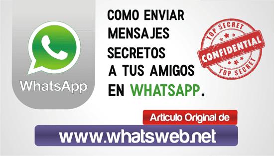 Como enviar mensajes secretos en WhatsApp