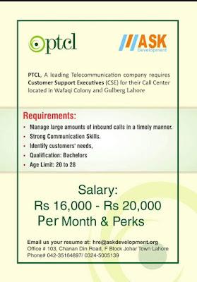 PTCL Customer Support Executive (CSE) Job