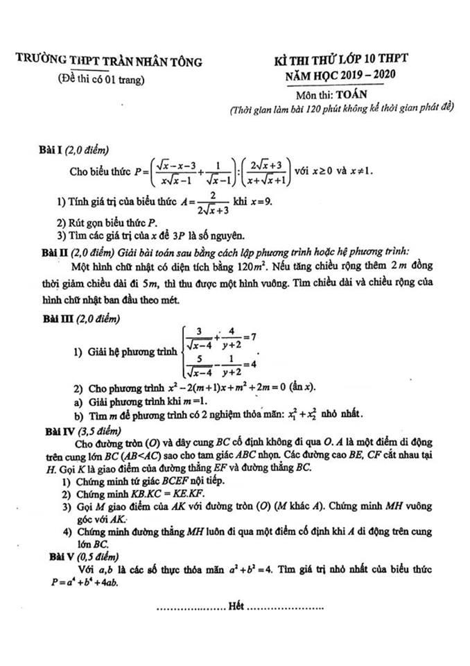 Kết quả hình ảnh cho đề ôn thi vào lớp 10 môn toán