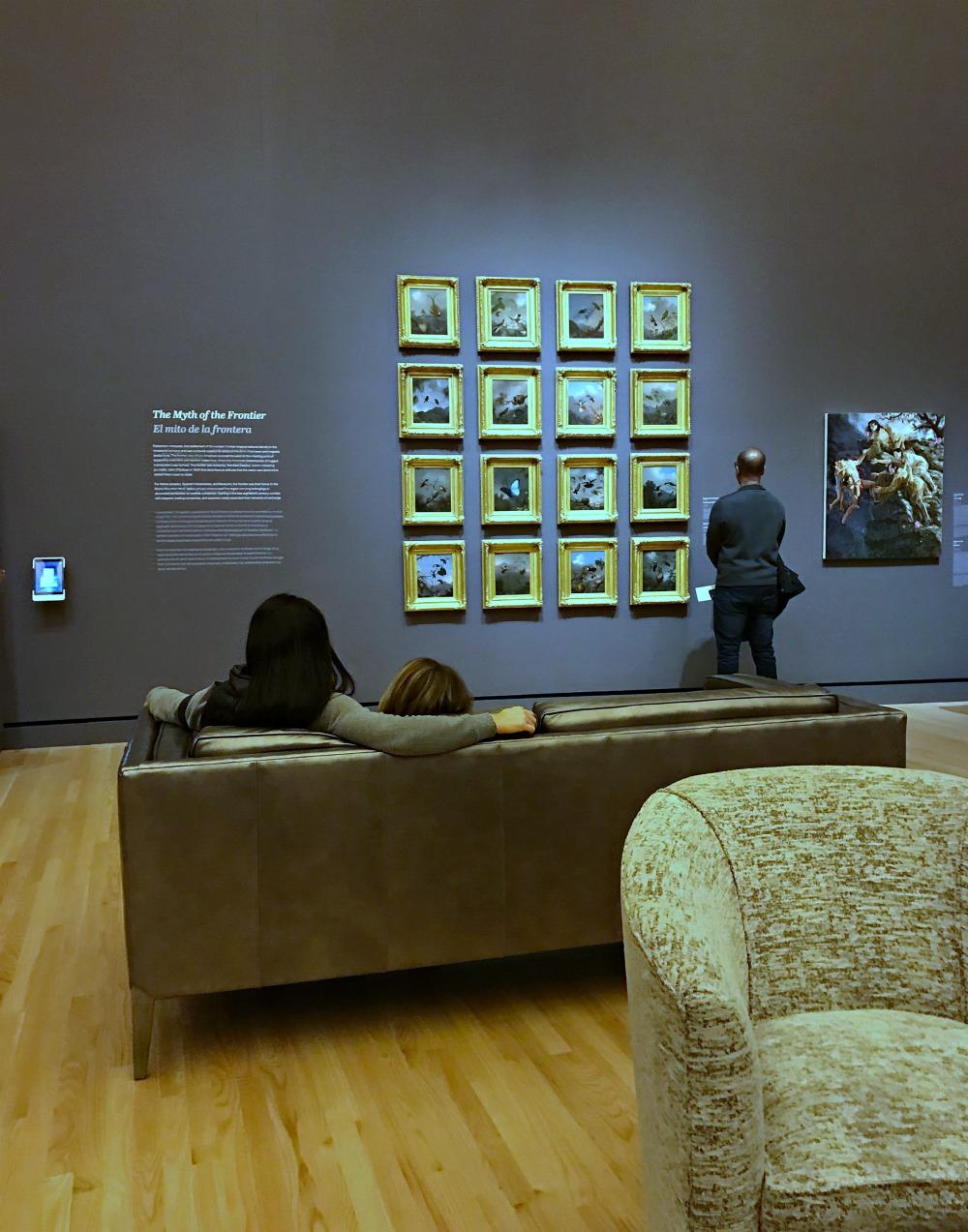 family at crystal bridges art museum