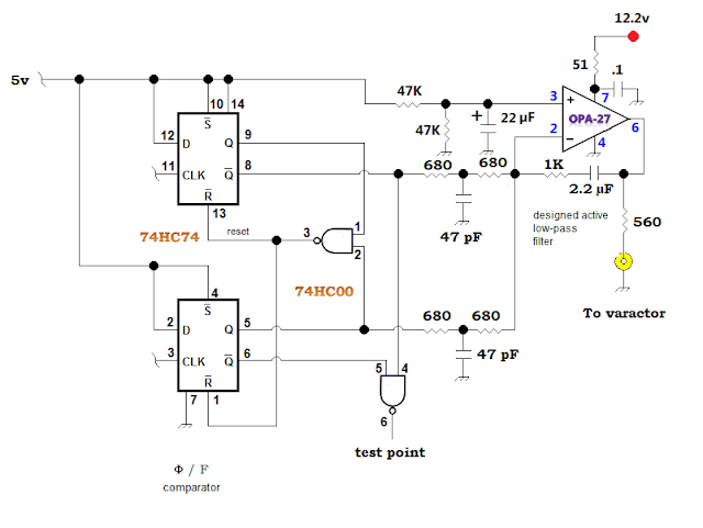 RF Bypass and  Filtration in a UHF VCO 40